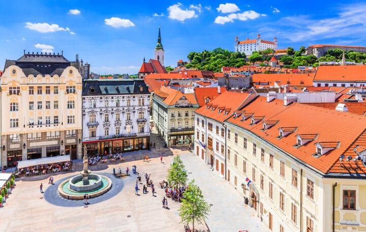 Hauptplatz im Stadtzentrum von Bratislava